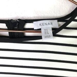 KENAR Black Stripe Long Sleeve Dress